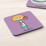 Cupcake Mom with purple background Drink Coasters