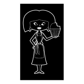 Cupcake mom with white outline business card