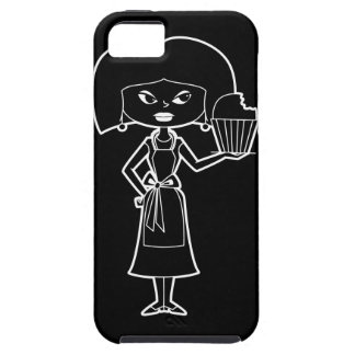 Cupcake mom with white outline  phone case
