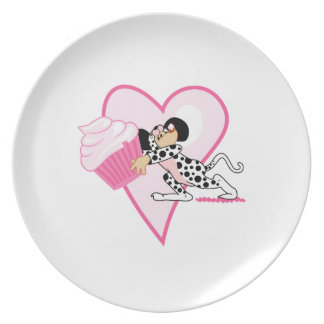 Cupcake Mouse (Dalmation Suit) Dinner Plate