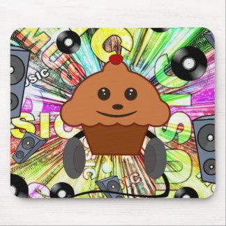 Cupcake & Music Mouse Pad