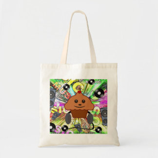 Cupcake & Music Tote Bag