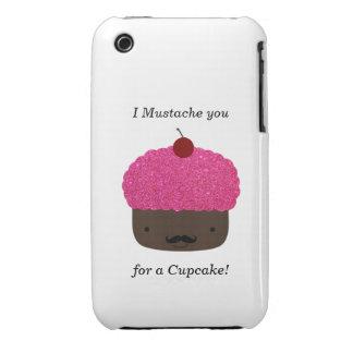 Cupcake mustache Case-Mate iPhone 3 case