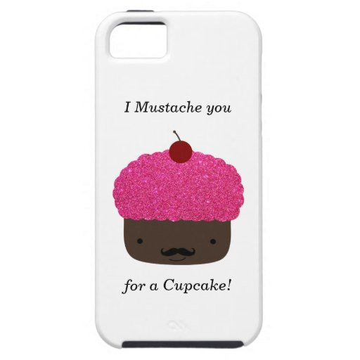 Cupcake mustache iPhone 5 covers