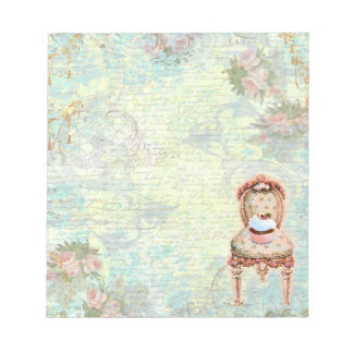 Cupcake n Pink Chair Memo Note Pads