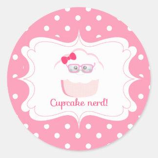 Cupcake Nerd Sticker