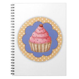Cupcake Spiral Note Books