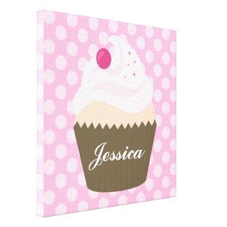 Cupcake Nursery Art Canvas Print