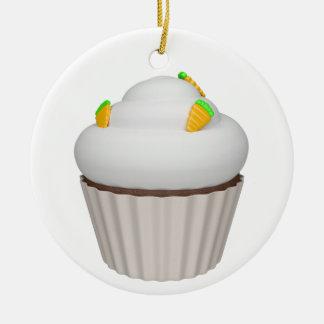 Cupcake of carrot ceramic ornament