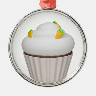 Cupcake of carrot metal ornament