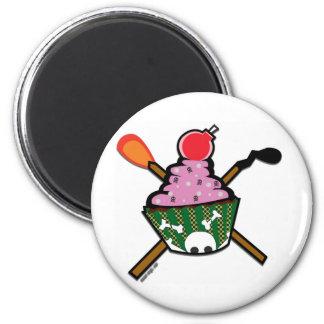 cupcake of doom 2 inch round magnet