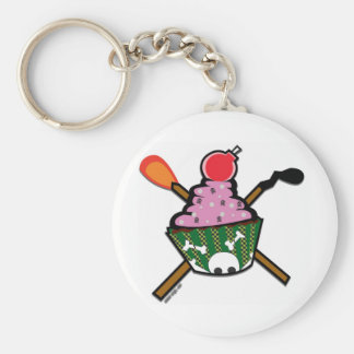 cupcake of doom basic round button keychain