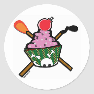 cupcake of doom classic round sticker