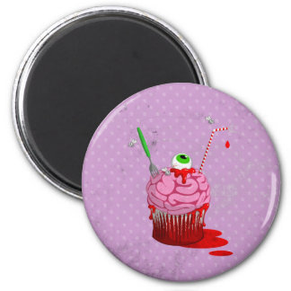 Cupcake Of The Dead 2 Inch Round Magnet