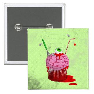 Cupcake Of The Dead 2 Inch Square Button