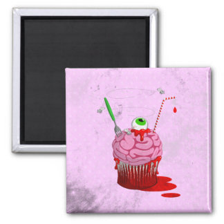 Cupcake Of The Dead 2 Inch Square Magnet