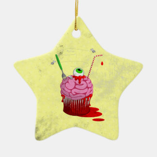 Cupcake Of The Dead Ceramic Ornament