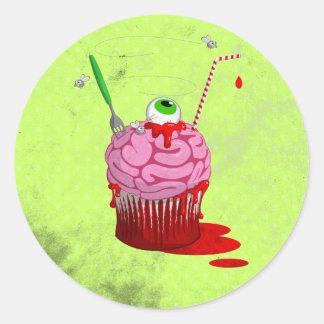 Cupcake Of The Dead Classic Round Sticker