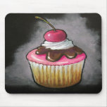 Cupcake: Oil Pastel Realism Art Mouse Pads