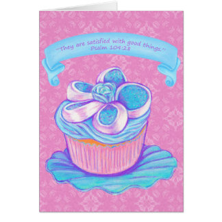 Cupcake on Plate Card 3~Scriptures