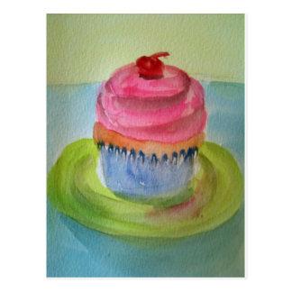 cupcake on plate.jpg postcard