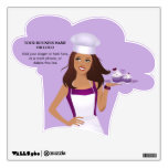Cupcake or Bakery Chef Wall Decal Illustrated