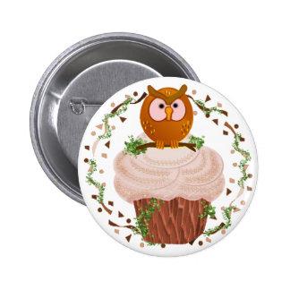 Cupcake Owl Pin