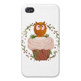 Cupcake Owl iPhone 4/4S Cover