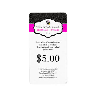 Cupcake Packaging Labels