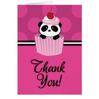 Cupcake Panda Thank You Card