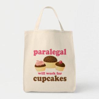 Cupcake Paralegal Canvas Bags