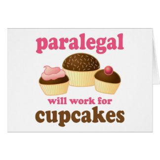 Cupcake Paralegal Card