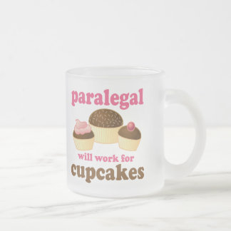 Cupcake Paralegal Frosted Glass Coffee Mug