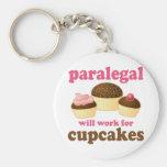 Cupcake Paralegal Key Chains