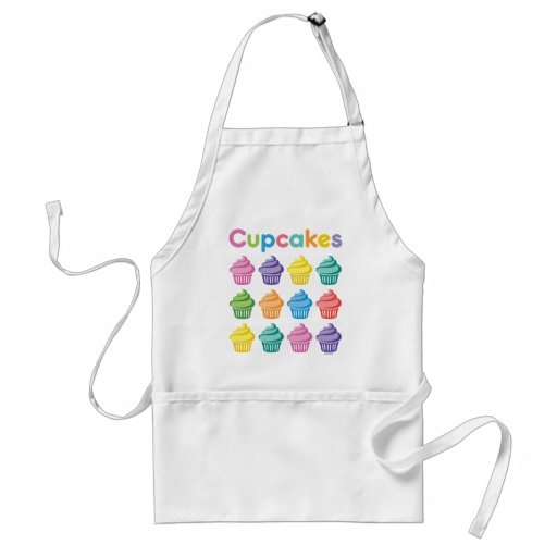 Cupcake party apron - I love cupcakes