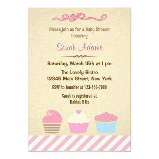 Cupcake Party Baby Shower Invitation