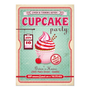 Cupcake birthday invitations announcements zazzle cupcake party birthday invitation filmwisefo Gallery