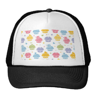 Cupcake Party Colorful Pattern Trucker Hat