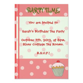 Cupcake Party Time Birthday Invite