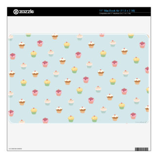 "Cupcake pattern Device Protection Skin Decal For 11"" MacBook Air"