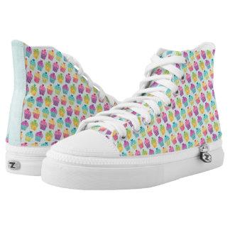 Cupcake Pattern High-Top Sneakers