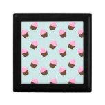 Cupcake Pattern Jewelry Boxes