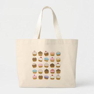 cupcake pattern jumbo tote bag
