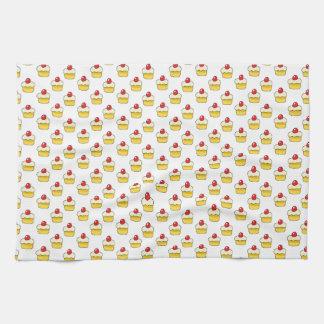 Cupcake Pattern Hand Towels