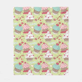 Cupcake pattern fleece blanket
