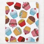 Cupcake Pattern Mouse Pad