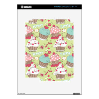 Cupcake pattern decal for iPad 3