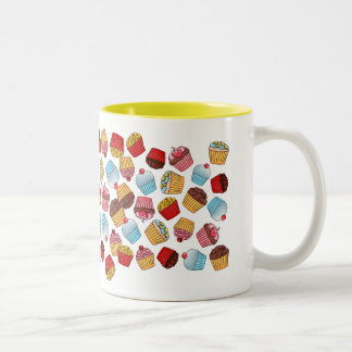 Cupcake Pattern Two-Tone Coffee Mug