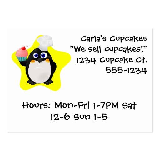 Cupcake Penguin Business Cards