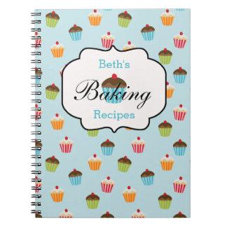 Cupcake Personalized Baking Recipe Notebook